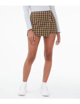 Plaid Mini Skort by Aeropostale