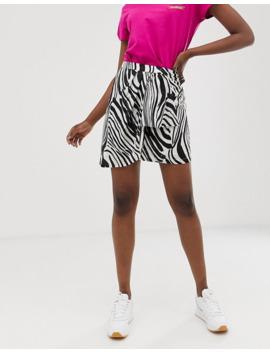 gestuz-siwra-abstract-zebra-stripe-wrap-skirt by gestuz
