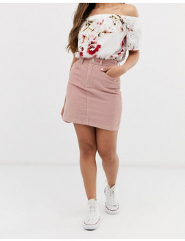 vero-moda-petite-corduroy-mini-skirt by vero-moda