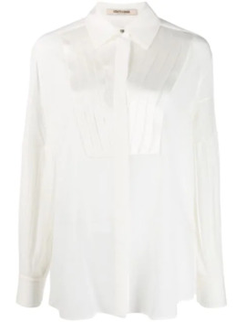 pleated-front-bib-shirt by roberto-cavalli