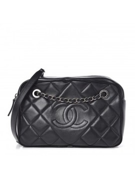 chanel-calfskin-quilted-small-ballerine-camera-case-black by chanel