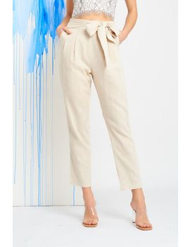 Bianca Tie Waist Trousers by Temt
