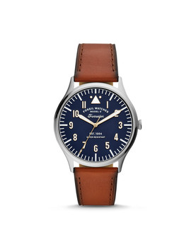 forrester-three-hand-luggage-leather-watch by fossil