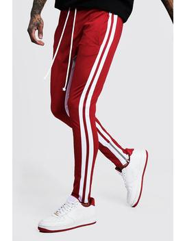 skinny-fit-man-signature-tricot-joggers by boohoo