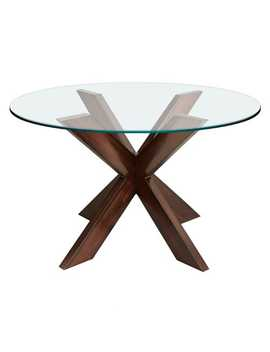 espresso-x-dining-table-base-&-glass-table-top by simon-collection