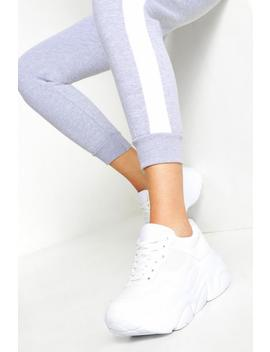 chunky-lace-up-trainers by boohoo
