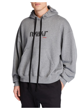 mens-logo-oversized-hoodie by unravel