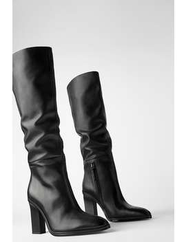 slouchy-heeled-leather-boots-bootsshoes-woman by zara