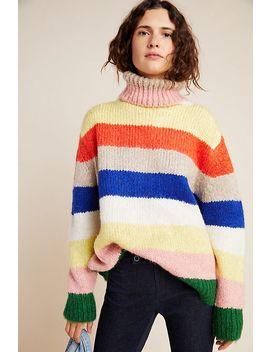 gloria-striped-turtleneck-sweater by anthropologie