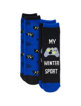 Boys Video Game Cozy Socks 2 Pack by Children's Place