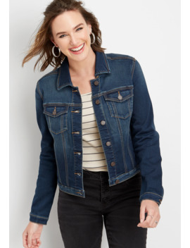 super-soft-dark-wash-denim-jacket by maurices