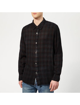 Our Legacy Men's Fine Frontier Shirt   Red/Blue Net Check/Overdyed by Our Legacy