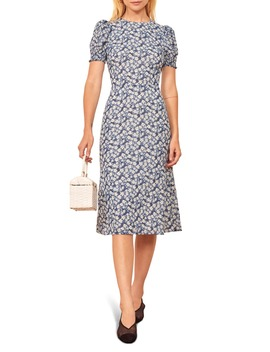 lee-floral-puff-sleeve-dress by reformation