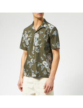 Universal Works Men's Road Shirt   Flower Olive by Universal Works
