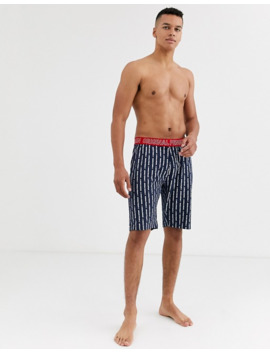 penguin-mens-jersey-lounge-shorts-in-veritcal-print-in-blue-and-white by asos