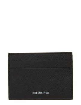 ville-pebbled-leather-card-case by balenciaga