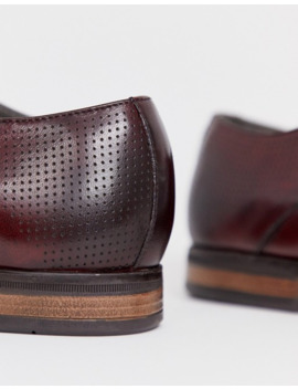depp-london-leather-burnished-lace-up-shoe-in-bordo by asos