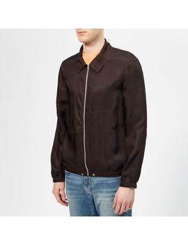 Helmut Lang Men's Zip Shirt Jacket   Chocolate by Helmut Lang
