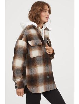 jachetă-cămașă-cu-motiv-spic by h&m