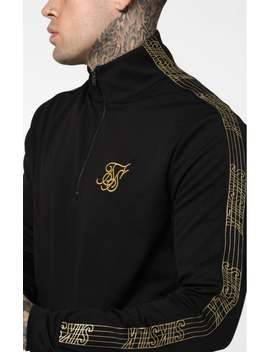 Gold Edit 1/4 Zip Overhead Runner   Black by The Sik Silk