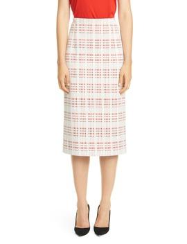vecka-jersey-tweed-pencil-skirt by boss