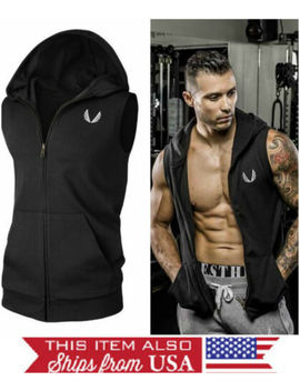 mens-hoodie-male-vest-workout-bodybuilding-gym-black-4-sizes-fast-shipping! by aesthetic-revolution