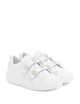 medusa-stud-leather-sneakers by versace-kids