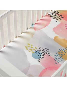 organic-lexi-crib-fitted-sheet---pink by west-elm