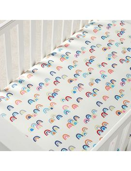 organic-rainbow-crib-fitted-sheet by west-elm