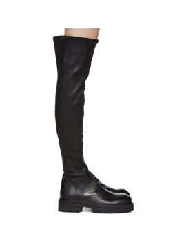 black-over-the-knee-combat-boots by ann-demeulemeester