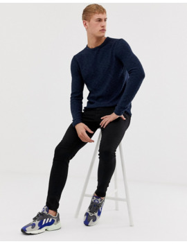 only-and-sons-knitted-jumper-in-navy by only-&-sons