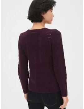 pointelle-crewneck-sweater by gap