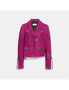 Suede Moto Jacket by Coach