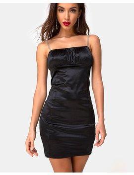 Kulani Dress In Black W/ Diamante By Motel by Motel