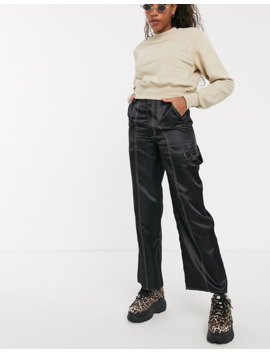 collusion-satin-wide-leg-trouser-with-contrast-stitching by collusion