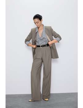 blazer-without-lapels by zara