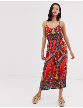 pieces-mixed-abstract-maxi-dress by pieces