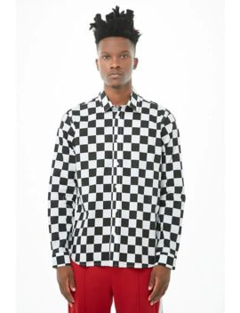 fitted-checkered-shirt by forever-21