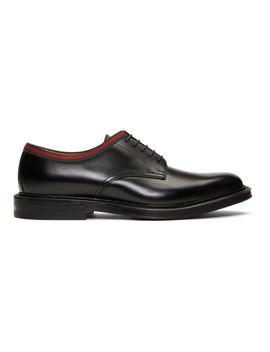 black-leather-derbys by gucci
