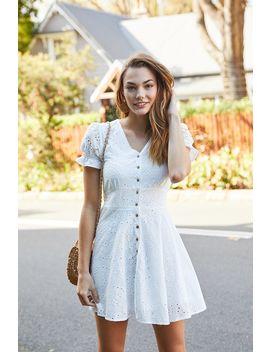 Porcelain Button Dress by Temt