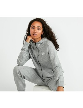 womens-essential-hooded-top-|-dark-grey-heather-_-white by nike