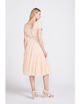 Lola Tiered Dress With Belt by Valleygirl
