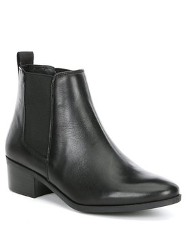 dover-leather-block-heel-booties by steve-madden