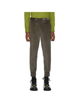 taupe-slim-corduroy-trousers by neil-barrett
