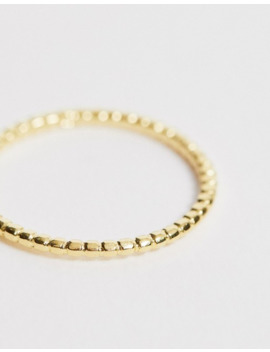 asos-design-curve-sterling-silver-ring-with-gold-plate-in-mini-ball-design by asos-design