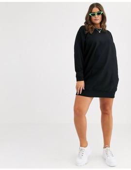 asos-design-curve-–-sweatshirt-kleid-mit-tasche-vorne by asos