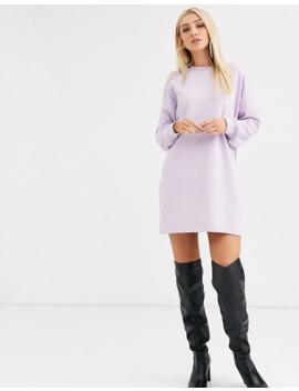 missguided-–-sweatshirt-kleid-in-lila by asos