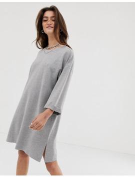 noisy-may-–-graues-sweatshirt-kleid-mit-2_3-Ärmeln by asos