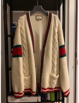 gucci-wool-web-cable-knit-cardigan by gucci  ×
