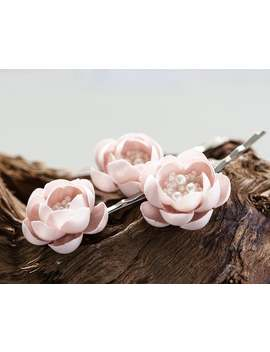 715-pink-flower-pins-flower-hair-accessories-wedding-hair-accessories-bridal-hair-accessories-wedding-headpieсe-flower-hair-clips-pin by etsy